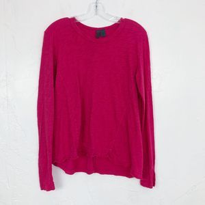 Anthropologie Left of Center Pink Long Sleeve Top